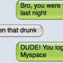 I wasnt that drunk SMS