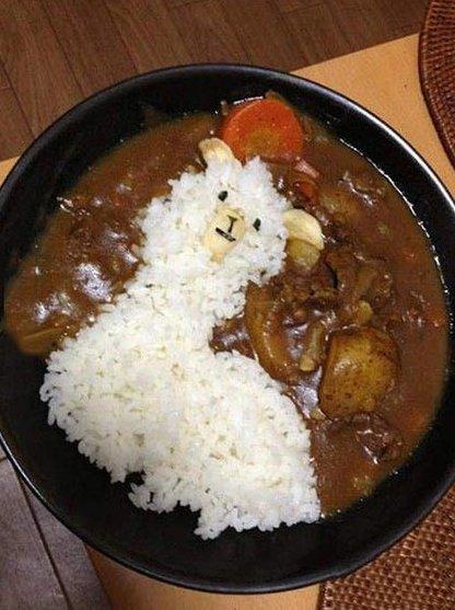Llama curry rice