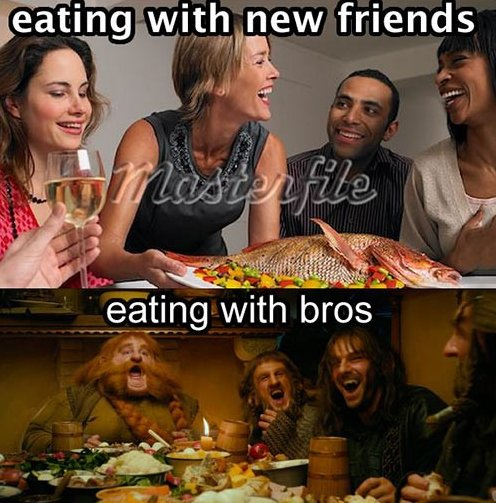 MEME – Eating with friends