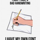 My own font