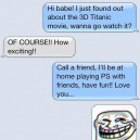 SMS – Boyfriend Trolls Her Girlfriend