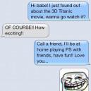SMS – Boyfriend Trolls Her Girlfriend