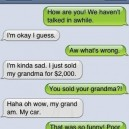 SMS Sold My Grandma