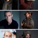 The Hobbit dwarves – pre and post make up