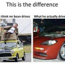 What Mr Bean really drives