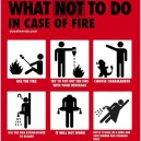 What not to do in case of fire