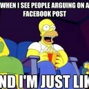 When people argue on Facebook