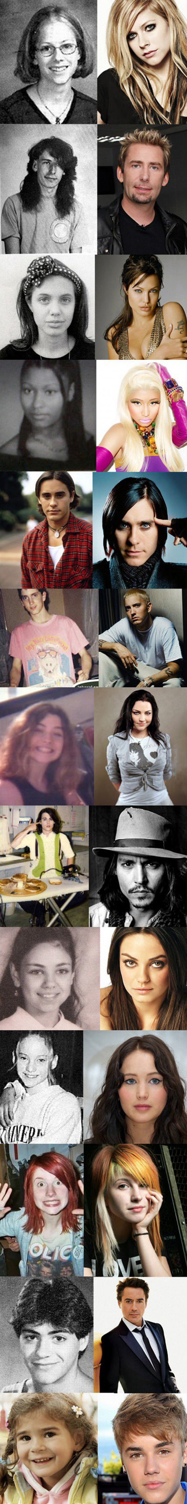 Celebrities – Now and Then