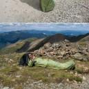 Combination of jacket, tent and sleeping bag