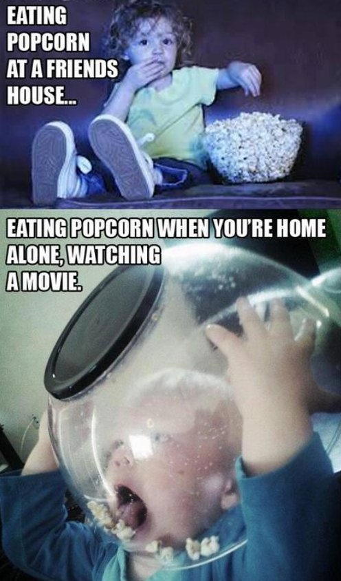 Eating Popcorn Alone