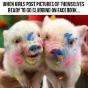 Girls on Facebook