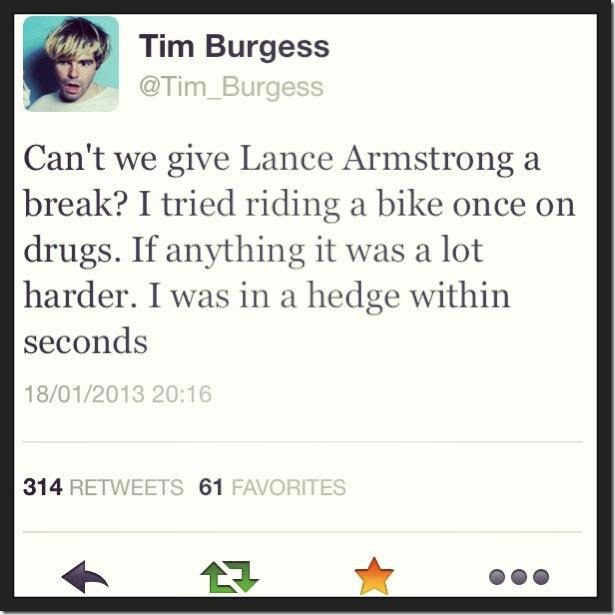 Give Lance Armstrong a break!