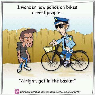 wonder how police on bikes arrest people