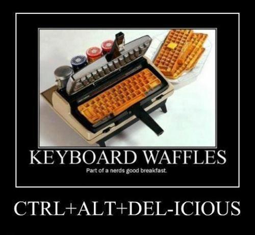 Keyboard waffles