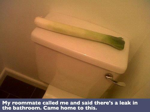 Leak in the bathroom