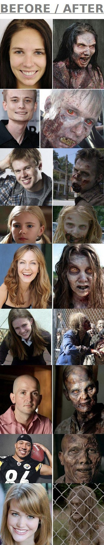 Make up of The Walking Deads Zombies