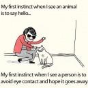 My first instinct