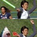 Photoshop level Michelle Obama