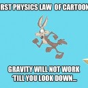 Physics laws in cartoons