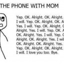 Talking with mom