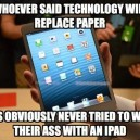 Technology vs. Paper