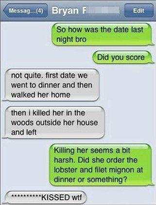 Text Message, First date
