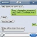 Text Message, I see stupid people