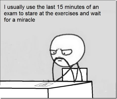 The last minutes of an exam