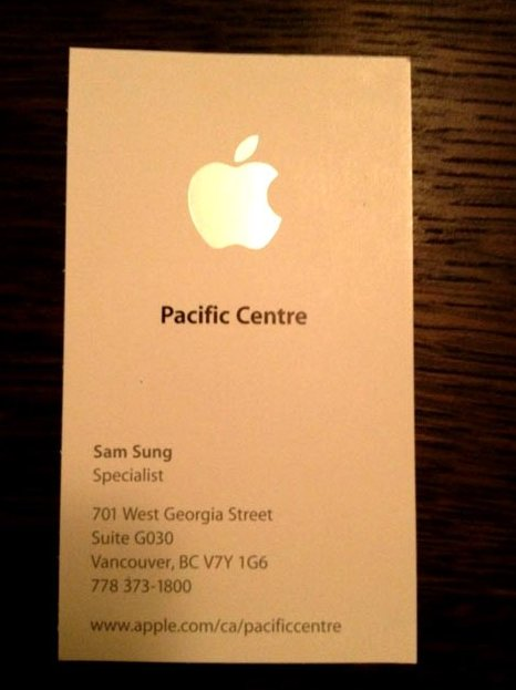 The worst name for an Apple Store employee