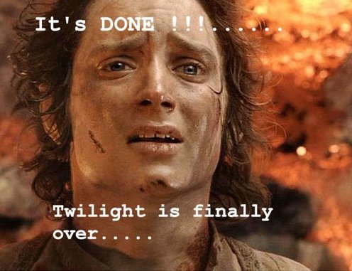 Twilight is over