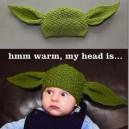Warm, my head is…