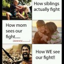 When siblings fight