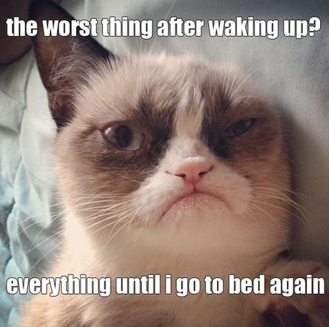Worst thing after waking up