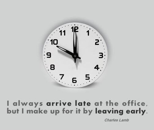 Always late