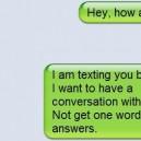 Conversation Over Text Messages