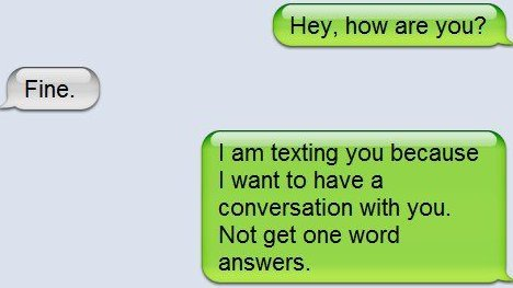 Conversation Over Text Messages