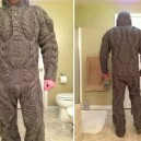 Full body knitted suit for those harsh winter mornings