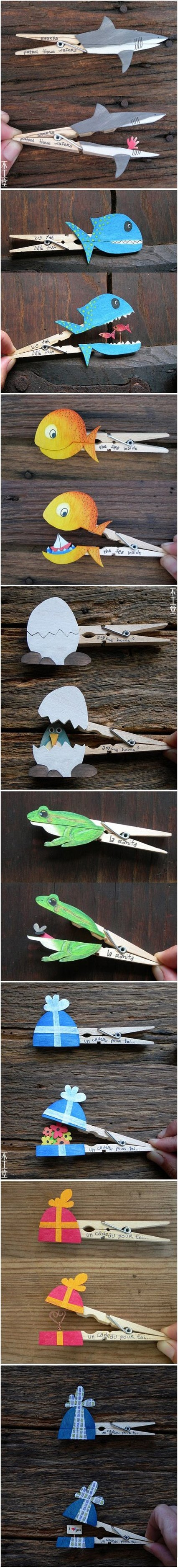 Fun With Clothespins