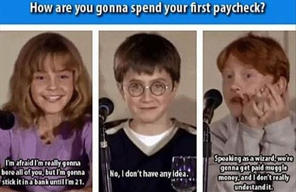 How will the Harry Potter cast spend their money