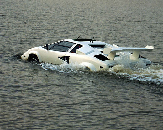 Lamborghini In the Water