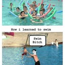My swimming lessons