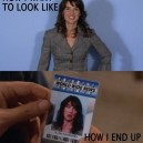 Taking a license photo