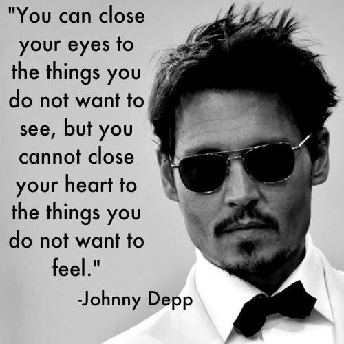 Well said, Johnny Depp