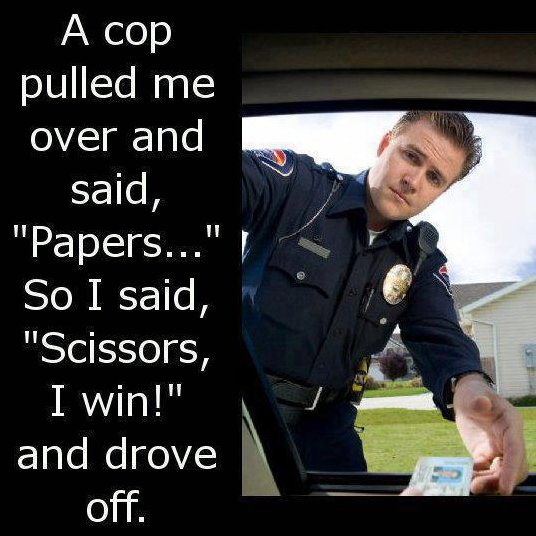 When a cop pulls you over
