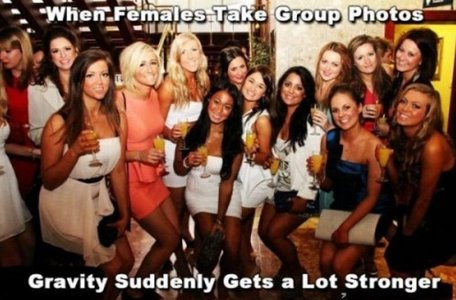 When females take group photos