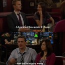Barney Stinson on hugging