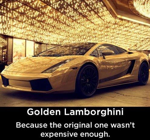 Golden Lamborghini