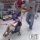 Grocery shopping cart fail