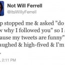 Not Will Ferrell Tweet