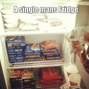 Single mans fridge